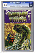 Bronze Age (1970-1979):Horror, Swamp Thing #1 (DC, 1972) CGC NM+ 9.6 White pages. You could callthis the true first appearance of Swamp Thing, since the c...