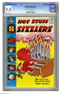 Hot Stuff Sizzlers #1 File Copy (Harvey, 1960) CGC NM 9.4 Cream to off-white pages. Only Harvey could get away with a co...