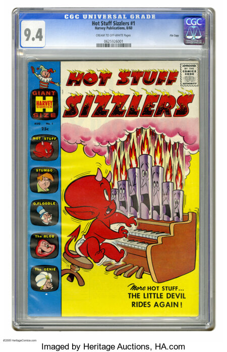 Hot Stuff Sizzlers #1 File Copy (Harvey, 1960) CGC NM 9.4 Cream to off-white pages. Only Harvey could get away with a comic ...