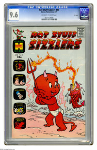Hot Stuff Sizzlers #45 File Copy (Harvey, 1971) CGC NM+ 9.6 Off-white to white pages. Overstreet 2005 NM- 9.2 value = $3...