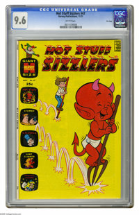 Hot Stuff Sizzlers #47 File Copy (Harvey, 1971) CGC NM+ 9.6 White pages. Overstreet 2005 NM- 9.2 value = $24. CGC census...