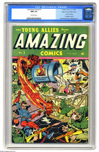 Amazing Comics #1 Mile High pedigree (Timely, 1944) CGC NM 9.4 Off-white pages. This is the one and only issue of this t...
