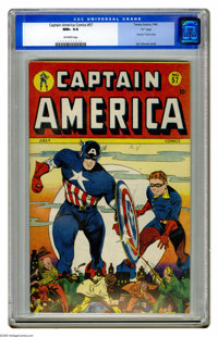 "Captain America Comics #57 ""D"" Copy pedigree (Timely, 1946) CGC NM+ 9.6 Off-white pages. This copy's the best..."