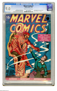 Marvel Comics #1 (Timely, 1939) CGC VF/NM 9.0 Cream to off-white pages. Have a look at the best of the best -- the highe...