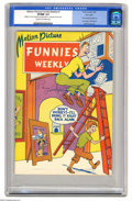 Golden Age (1938-1955):Superhero, Motion Picture Funnies Weekly #1 Pay Copy (First Funnies, Inc.,1939) CGC VF/NM 9.0 Cream to off-white pages. This is one of...