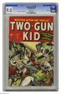Golden Age (1938-1955):Western, Two-Gun Kid #3 Vancouver pedigree (Atlas, 1948) CGC NM- 9.2 Whitepages. The Two-Gun Kid's third cover is the first one to s...