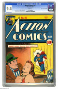 Golden Age (1938-1955):Superhero, Action Comics #24 Mile High pedigree (DC, 1940) CGC NM 9.4 White pages. Clark Kent's place of employment is mentioned as bei...