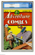 Golden Age (1938-1955):Superhero, Adventure Comics #45 Mile High pedigree (DC, 1939) CGC NM+ 9.6 Off-white pages. The spectacular Mile High colors are the fir...