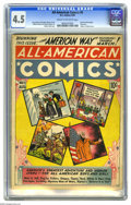 Golden Age (1938-1955):Miscellaneous, All-American Comics #5 (DC, 1939) CGC VG+ 4.5 Cream to off-white pages. The title was All-American Comics, it was publis...