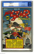 Golden Age (1938-1955):Superhero, All Star Comics #4 (DC, 1941) CGC NM- 9.2 Off-white to white pages. After the pomp and circumstance of the origin and first ...