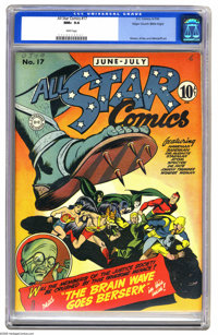 All Star Comics #17 Mile High pedigree (DC, 1943) CGC NM+ 9.6 White pages. This beautiful Mile High copy is by far the b...