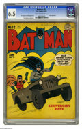 Golden Age (1938-1955):Superhero, Batman #12 (DC, 1942) CGC FN+ 6.5 Cream to off-white pages. The Joker makes an appearance in this issue, which features a co...
