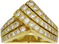 Estate Jewelry:Rings, Diamond, Gold Ring. The ring features full-cut diamonds weighing a total of approximately 1.25 carats, pavé set in 18k yel... (Total: 1 Item)