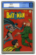 Golden Age (1938-1955):Superhero, Batman #28 (DC, 1945) CGC VF/NM 9.0 Cream to off-white pages. The Dark Knight Detective comes out swinging on this action co...