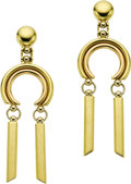 Estate Jewelry:Earrings, Gold Earrings. The 18k yellow gold earrings are completed by postsand friction backs. Made in Italy. Gross weight 11.40 g... (Total:1 Item)