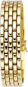 Estate Jewelry:Bracelets, Gold Bracelet. The 14k yellow gold fancy link bracelet is completedby a tongue-in groove clasp with two figure-eight safe... (Total: 1Item)