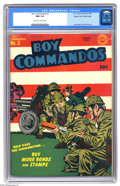 Golden Age (1938-1955):Superhero, Boy Commandos #3 Mile High pedigree (DC, 1943) CGC NM 9.4 Off-white to white pages. While the Boy Commandos were a Simon and...