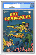 Golden Age (1938-1955):Adventure, Boy Commandos #17 Mile High pedigree (DC, 1946) CGC NM 9.4 White pages. The Boy Commandos in outer space? Well, with no Nazi...