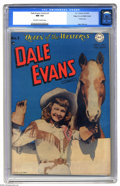 Golden Age (1938-1955):Western, Dale Evans Comics #1 Mile High pedigree (DC, 1948) CGC NM 9.4Off-white to white pages. Dale Evans began a four-year DC run ...