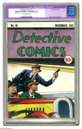 Platinum Age (1897-1937):Miscellaneous, Detective Comics #10 (DC, 1937) CGC Apparent VF/NM 9.0 Moderate (P)Cream to off-white pages. This pre-Golden Age DC issue s...