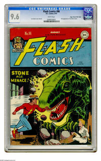 Flash Comics #86 Mile High pedigree (DC, 1947) CGC NM+ 9.6 White pages. The first appearance of the Black Canary makes t...