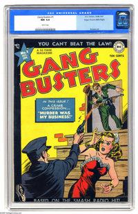 Gang Busters #1 Mile High pedigree (DC, 1947) CGC NM 9.4 White pages. Our Mile High specimen is the highest-graded copy...