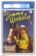 Golden Age (1938-1955):Western, Jimmy Wakely #1 Mile High pedigree (DC, 1949) CGC NM 9.4 Whitepages. Every time we'd seen this issue before, it was a well-...