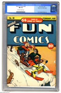 Golden Age (1938-1955):Miscellaneous, More Fun Comics #40 Mile High pedigree (DC, 1939) CGC NM 9.4 Off-white to white pages. Not only is this the only copy of thi...