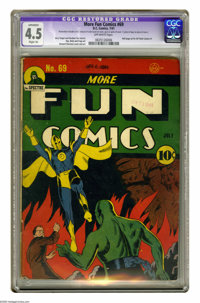 More Fun Comics #69 (DC, 1941) CGC Apparent VG+ 4.5 Slight (A) Off-white pages. Howard Sherman cover. Fred Ray, Bernard...