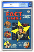Golden Age (1938-1955):Non-Fiction, Real Fact Comics #4 Mile High pedigree (DC, 1946) CGC NM+ 9.6 Whitepages. Virgil Finlay and George Roussos are among the co...
