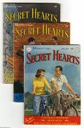 Golden Age (1938-1955):Romance, Secret Hearts Golden Age Group (DC, 1949-57) Condition: AverageVG/FN. This group includes #1, 2, 4, 5, 6, 7 (a rare issue a... (13Comic Books)