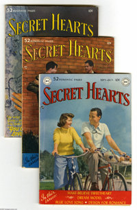 Secret Hearts Golden Age Group (DC, 1949-57) Condition: Average VG/FN. This group includes #1, 2, 4, 5, 6, 7 (a rare iss...