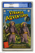Golden Age (1938-1955):Science Fiction, Strange Adventures #1 (DC, 1950) CGC VF/NM 9.0 Off-white to whitepages. This unique cover is one you can recognize from acr...