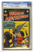 "Golden Age (1938-1955):Science Fiction, Strange Adventures #7 (DC, 1951) CGC VF/NM 9.0 Cream to off-whitepages. Bob Oksner's creepy cover predicts ""Who will rule t..."