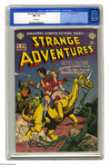 Golden Age (1938-1955):Science Fiction, Strange Adventures #12 (DC, 1951) CGC NM- 9.2 White pages. Theseearly 1950s science fiction comics are so much fun! This ch...