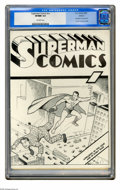 Golden Age (1938-1955):Superhero, Superman Comics #nn Ashcan (DC, 1939) CGC VF/NM 9.0 Off-white pages. Here's a Superman item that's harder to find than Act...