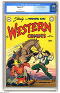 Golden Age (1938-1955):Western, Western Comics #8 Mile High pedigree (DC, 1949) CGC NM/MT 9.8 Whitepages. This issue tells the origin of the Wyoming Kid (h...