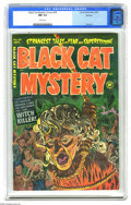 "Golden Age (1938-1955):Horror, Black Cat Mystery #39 Spokane pedigree (Harvey, 1952) CGC NM 9.4White pages. This issue's story ""The Body Maker,"" with art ..."