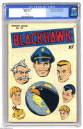 Golden Age (1938-1955):Adventure, Blackhawk #10 Mile High pedigree (Quality, 1946) CGC NM+ 9.6 White pages. This issue (only the second of the title, which to...