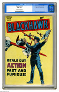 Golden Age (1938-1955):Adventure, Blackhawk #14 Mile High pedigree (Quality, 1947) CGC NM+ 9.6 Off-white to white pages. This Mile High copy is the one agains...