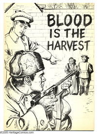 Blood Is the Harvest #nn Black and White Edition (Catechetical Guild, 1950) Condition: NM-. One of the most notorious gi...