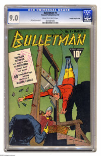 Bulletman #4 Crowley Copy pedigree - File Copy (Fawcett, 1942) CGC VF/NM 9.0 Cream to off-white pages. In many an instan...