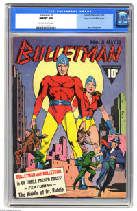 Bulletman #5 Mile High pedigree (Fawcett, 1942) CGC NM/MT 9.8 Off-white to white pages. We've never had an opportunity t...