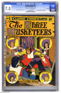 Golden Age (1938-1955):Classics Illustrated, Classic Comics #1 The Three Musketeers - Lost Valley pedigree (Elliott, 1941) CGC VF- 7.5 Cream to off-white pages. This is ...
