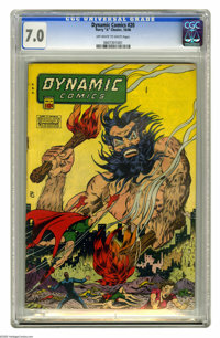 "Dynamic Comics #20 (Chesler, 1946) CGC FN/VF 7.0 Off-white to white pages. ""Bare-breasted woman (on) cover,"" s..."