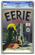 Golden Age (1938-1955):Horror, Eerie #1 (Avon, 1947) CGC VG/FN 5.0 Off-white pages. This is thefirst-ever horror comic book according to CGC, while Overst...