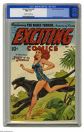 Golden Age (1938-1955):Adventure, Exciting Comics #61 (Nedor Publications, 1948) CGC NM+ 9.6Off-white to white pages. Alex Schomburg's airbrushed covertechn...