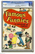 Golden Age (1938-1955):Cartoon Character, Famous Funnies: A Carnival of Comics #nn (Eastern Color, 1933) CGCVF/NM 9.0 Off-white pages. Widely regarded as the second ...