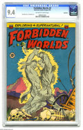 Golden Age (1938-1955):Horror, Forbidden Worlds #9 Bethlehem pedigree (ACG, 1952) CGC NM 9.4Off-white to white pages. Overstreet notes that there's an ato...