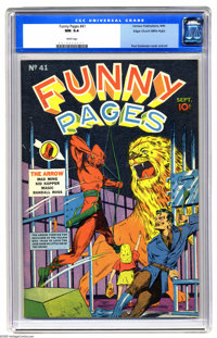 Funny Pages #41 Mile High pedigree (Centaur, 1940) CGC NM 9.4 White pages. Here's a rarity for you -- it's the only copy...